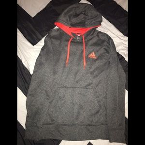 Dark gray & orange Adidas sweater
